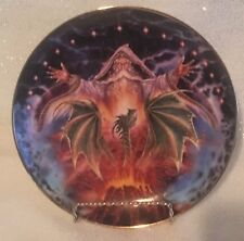 Royal Doulton Myles Pinkney Franklin Mint Dragon Rising, Fine Bone China Plate
