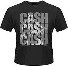 Johnny Cash - Cash Cash Cash T-Shirt Homme / Man - Taille / Size S PLASTIC HEAD