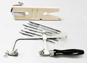 Jewelry Making Tools Kit Basic Set Supply - Bench Pin - Saw Frame & Saw Blades