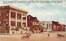 c.1910 Homes Montana St. El Paso TX post card