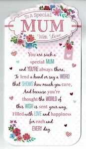 Mum Birthday Card 'To A Special Mum With Love'