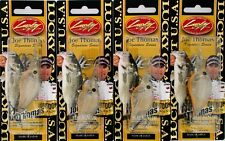 "(4) Lucky Craft Made JAPAN 3/8 Oz. Flat Mini DR 2"" Crankbaits Joe's Magic Shad"