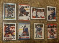 (8) Mike Richter 1990-91 Upper OPC Bowman Score Pro Rookie card lot Rangers RC