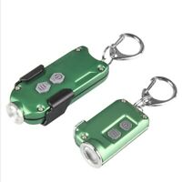 Waterproof Mini LED Light Keychain Flashlight USB Rechargeable Lamp Pocket Torch