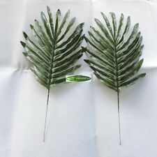 40cm 20pcs Artificial Palm Plant Tree Leaf Branch Christmas Home Decor Green