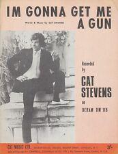 I'm Gonna Get Me A Gun - Cat Stevens - 1967 Sheet Music