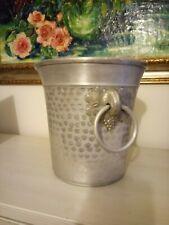 Vintage Aluminium metal Champagne Wine Ice Bucket