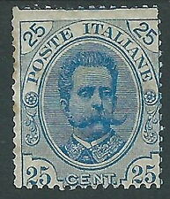 1891-96 REGNO UMBERTO I 25 CENT MH * - Y140