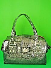 JENRIGO ITALY Embossed Charcoal Leather NWT Hobo Bag