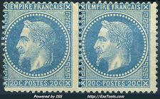 FRANCE EMPIRE PAIRE N° 29A NEUF * AVEC CHARNIERE COTE 850€ A VOIR