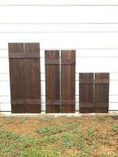 BEST SELLER***Set of 2 Quality Custom Wood Stained Exterior Shutters