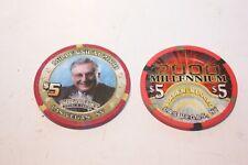 2000 Millennium Poker Chips - Two (2)