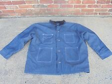 Men's 3XL Bob Barker lined Heavy Duty Denim Prison Chore Jacket Corduroy Collar