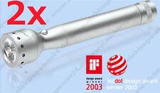 2x Led Lenser V2 Triplex 7646 Taschenlampe mit Tasche | LED Lampe blaue Leuchte