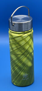 Gaiam 18oz Wide Mouth Water Bottle Stainless Steel Insulated Leakproof Green