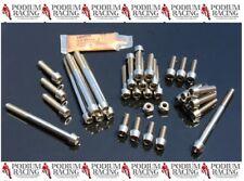 DUCATI TITANIUM ENGINE CASE BOLT KIT SILVER 749 999 S R (74 PC KIT)