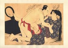 Japanese Reproduction Woodblock Print Shunga Style xx Erotic A4 Parchment Paper