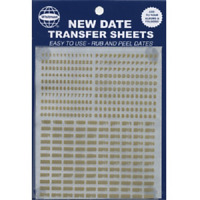 New Date Transfer Sheets GOLD for Whitman Albums Rub & Peel Free US Shipping NEW