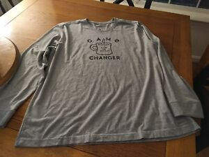NWOT...Life is Good Mens Gray *Game Changer* Long Sleeve T-Shirt...Size XXL