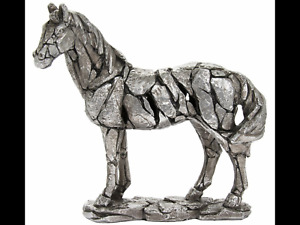Natural world silver horse sculpture pony ornament figurine art present gift