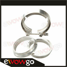 """3"""" Self Aligning Male/Female V-Band Clamp CNC Stainless Steel Flange Kit"""