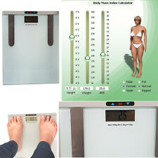 150KG Digital Electrónica LCD BMI Caloría Grasa Corporal Cuarto De Baño Balanza Peso