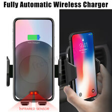 Qi Wireless Fast Charger Car Mount Holder Automatic Infrared Sensor Charging  S