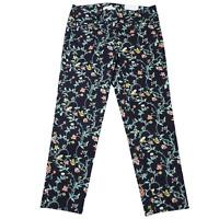 NWT LOFT Marisa Multicolor Floral Ankle Pants Women's Size 2