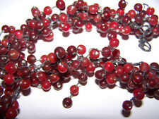 POTTERY BARN RED GLASS PEPPER BERRY GARLAND