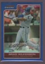 BRAD WILKERSON /150  RANGERS BLUE REFRACTOR MINT SP 2006 BOWMAN CHROME