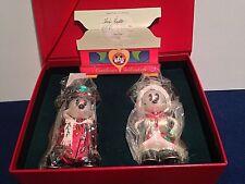 "1997 Radko ""Mistletoe Mickey and Holly Minnie"" DISNEY RARE RETIRED LTD ED"