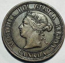 CANADA - Queen Victoria - Large Cent - 1876H - Heaton Mint - Km-7 - Very Fine