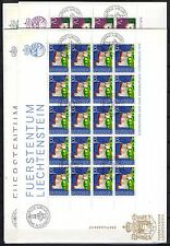 Liechtenstein - 1975 European monument year - Mi. 630-33 sheets clean FDC