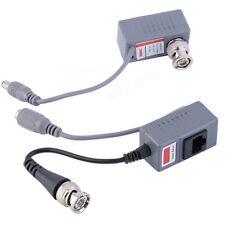 CCTV Coax BNC Video Power Balun Transceiver to CAT5e CAT6 RJ45 Connector