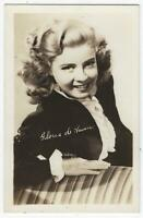 Actress Gloria de Haven Real Photo Unused Postcard Vintage Movie Entertainment