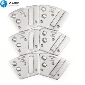 6PCS Trapezoid Grinding Pad 2*1/4 PCD Metal Bond Polishing Pads Concrete Stone