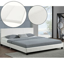 Polsterbett Doppelbett Kunstlederbett Bettgestell & Matratze 140x200cm ArtLife®