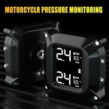 Wireless Motorcycle TPMS Tire Pressure Monitor Systems with 2 Sensors Waterproof
