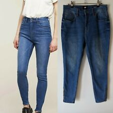 Lee sz 14 blue high licks super Skinny Jeans AS NEW