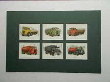 CIGARETTE CARD MOUNT - BRITISH LORRIES OF THE 50'S AND 60'S