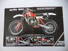 advertising Pubblicità 1980 MOTO APRILIA MX 125