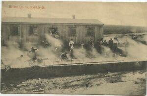 Island Postkarte Reykjavik Karlsbad Österreich 1912