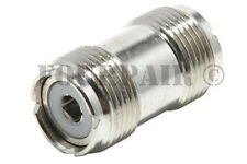 2 Pack - UHF SO-239 Female Coupler RF Adapter Barrel Connector for PL-259 Plugs