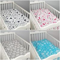 lux 2 pc cot /cot bed bedding set nursery baby 100% cotton patterned covers GREY