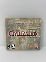 Video Game PC Sid Meiers Civilization III + Cardboard Cover Jewel