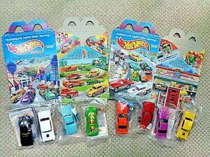 McDonald's 1990 Mattel's Hot Wheels California Custom Set w/ Happy Meal Boxes