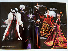 Disney Villains Designer Collection 6 pc.Doll Set LIMITED EDITION