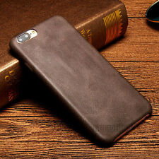 Luxury Ultra-thin PU Leather Back Skin Cover Case For Apple iPhone 6 6S Coffee