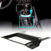 Fit For Mazda Carbon Fiber Interior Hand Brake Trim Cover 2020 MX-5 Miata GT GX
