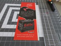 Vintage 1946 EXIDE BATTERY Print Ad, When it's an exile you start
